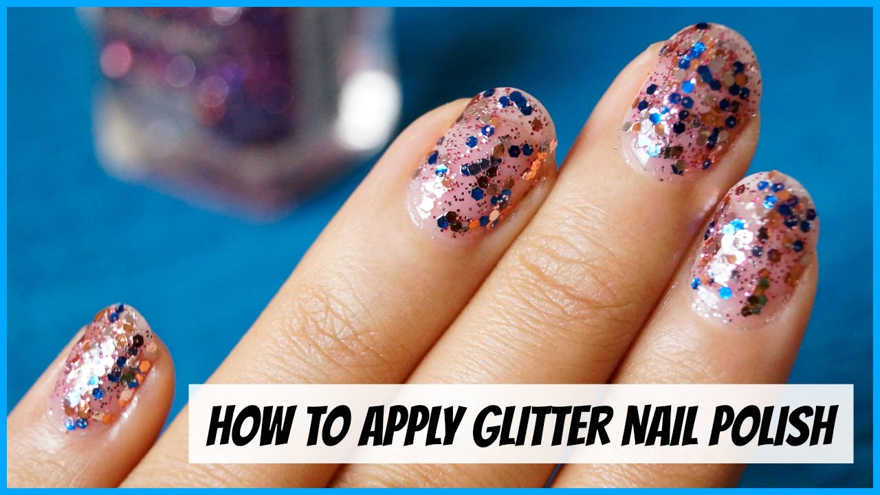 How To Apply Sparkly Nail Polish With A Sponge – Papillon Day Spa