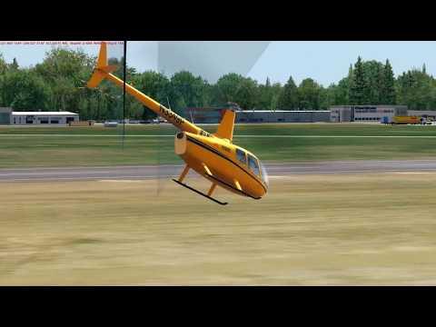 [PREPAR3D] Robinson R66 flight over EPML (Mielec)