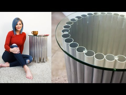 NO WELD Metal & Glass End Table | Brazing Aluminum