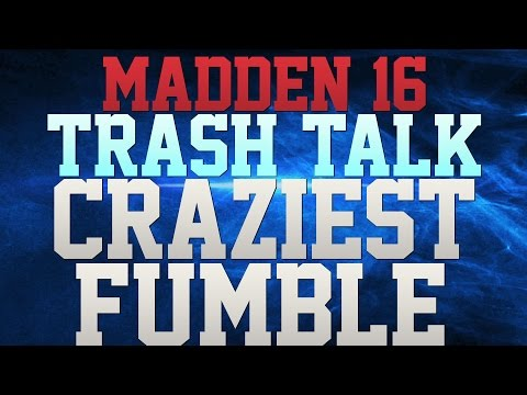 MADDEN 16 TRASH TALK!!! - CRAZY FUMBLE RECOVERY!!! - CARSON PALMER RUNNING WILD TRUCKING N JUKING!!!