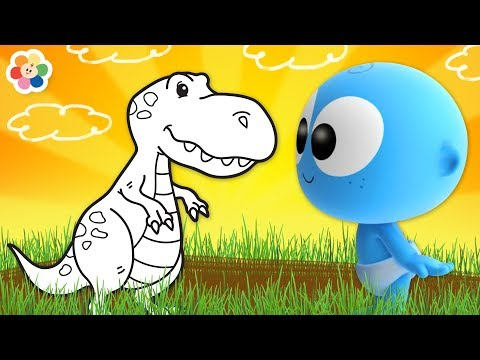 Dinosaurs for Kids   GooGoo Baby Coloring Pages   Educational Cartoon Videos by BabyFirst