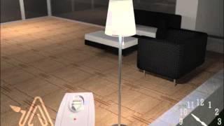 3D animacija - solarna lampa || 3D animation - solar lamp