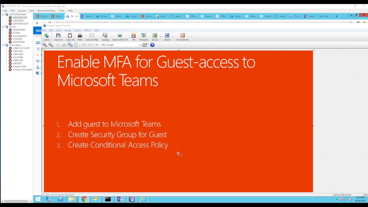 Enable MFA for Guest access to Microsoft Teams