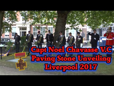Capt Noel Chavasse Paving Stone Ceremony Liverpool Aug 2017