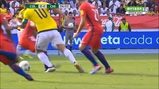 James Rodriguez crazy nutmeg vs Chile (2016/2017) - 1080i