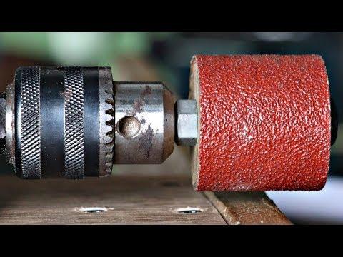 3 Best Homemade Drill Sander Projects || Drill Hacks