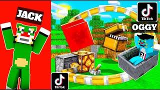 Minecraft | Tiktok Hacks | With Oggy And Jack | Tiktok| Minecraft Pe | In Hindi | Rock Indian Gamer|