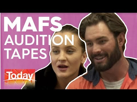 MAFS Audition Tapes Revealed | TODAY Show Australia