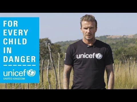 David Beckham, Unicef Goodwill Ambassador, meets children in danger in drought-affected Swaziland