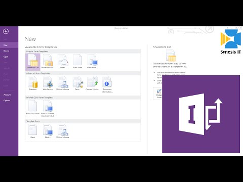 How To Create A Form Using InfoPath 2013 For Sharepoint