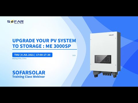 Upgrade your PV system to storage