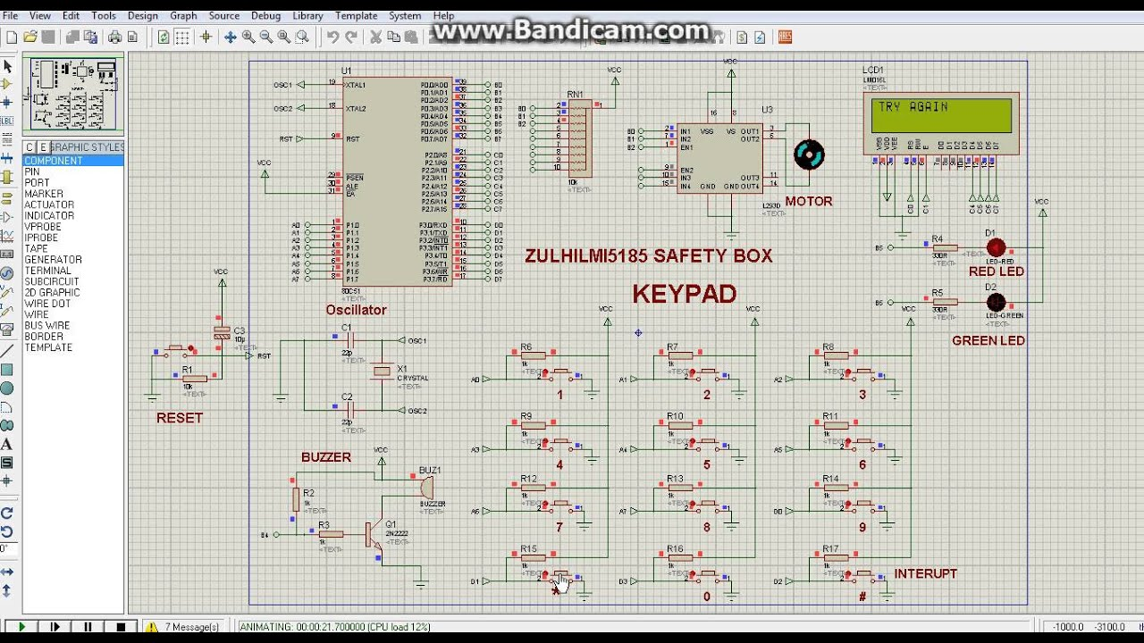 Digital Safe Box coding  asm using proteus