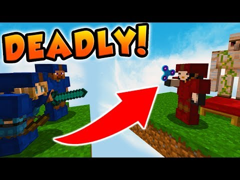 WORKING FIDGET SPINNER IN MINECRAFT BED WARS!