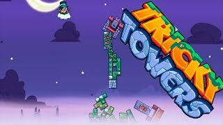 Tricky Towers Survival Challendg. Game review Tricky Towers. Fun game tetris.