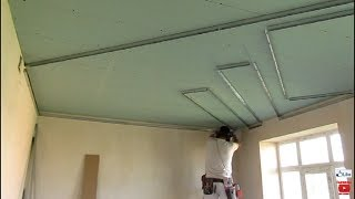 НЕОБЫЧНЫЙ двухуровневый потолок из гипсокартона