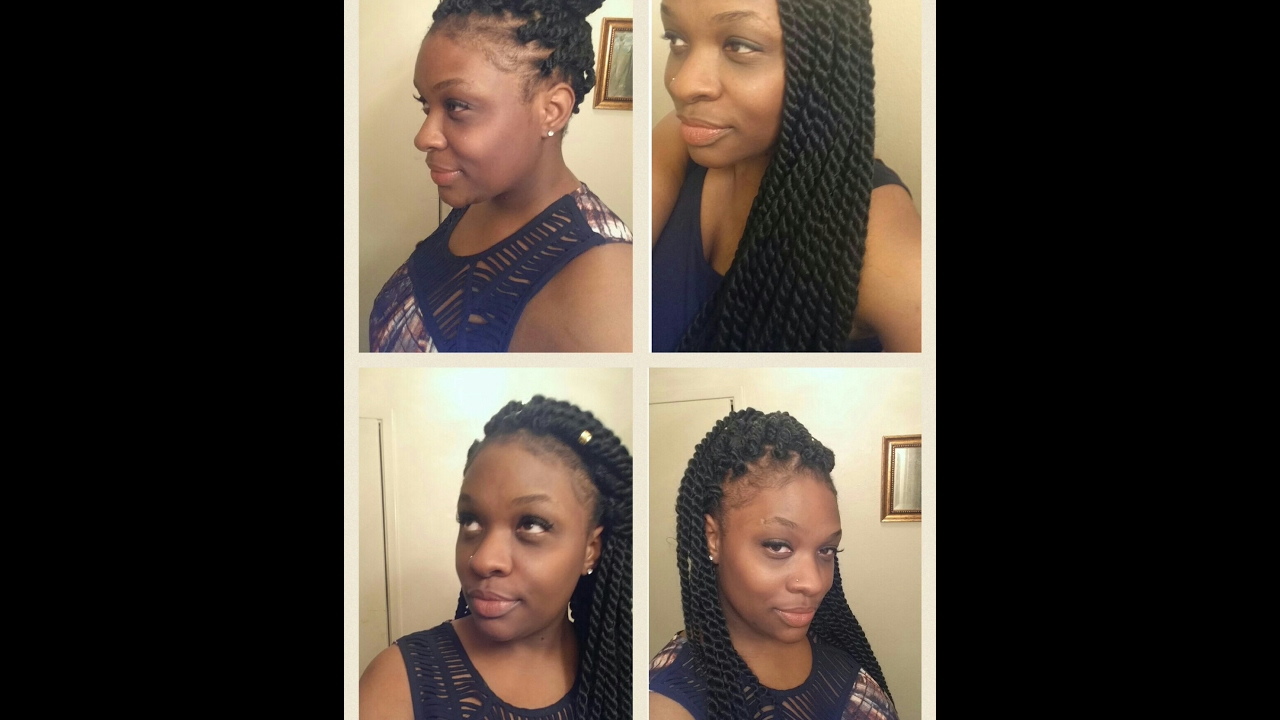 Individual Crochet Twists. Single Crochet Braids on Short