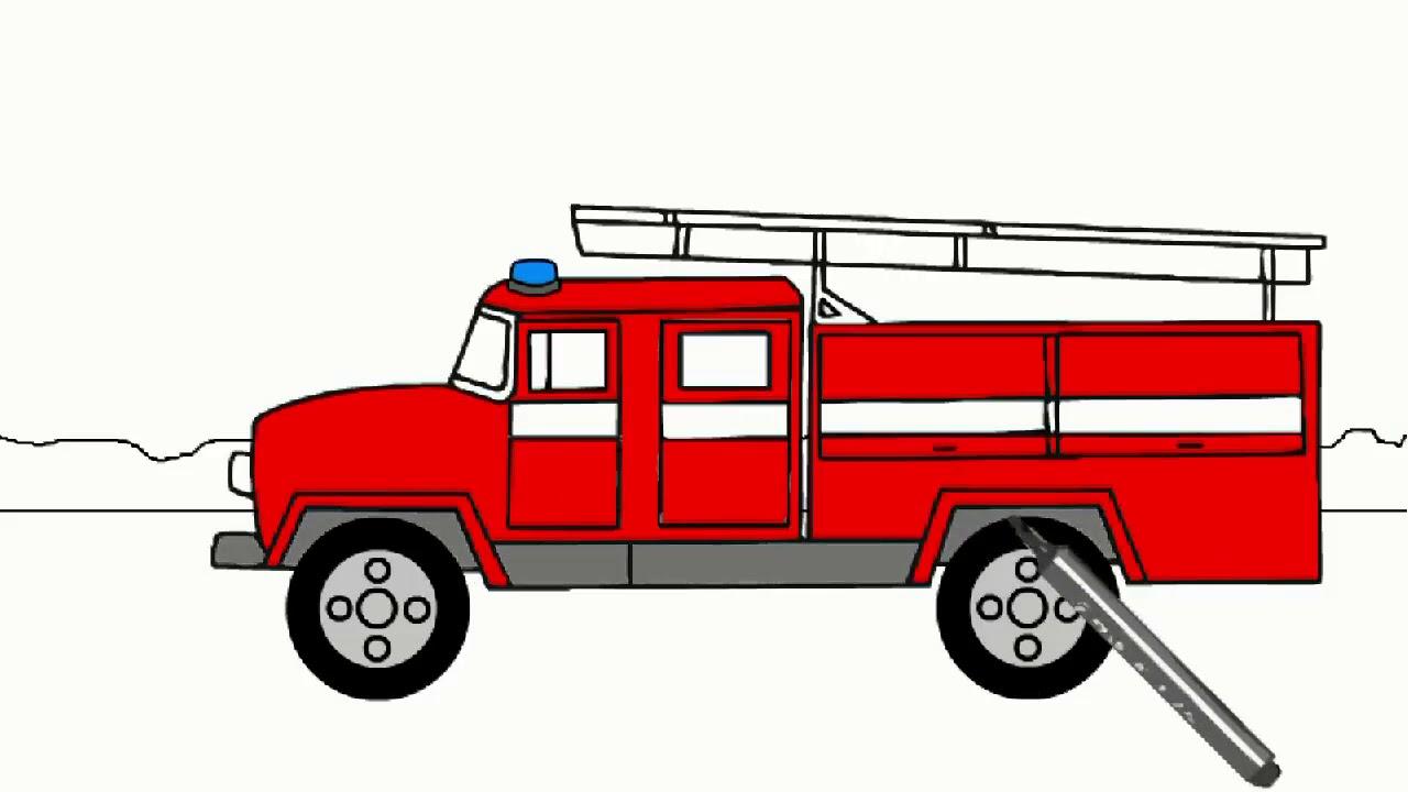картинки рисунков пожарных машин права нового образца