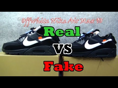 Real VS Fake Off White Air Max 90 Black & White