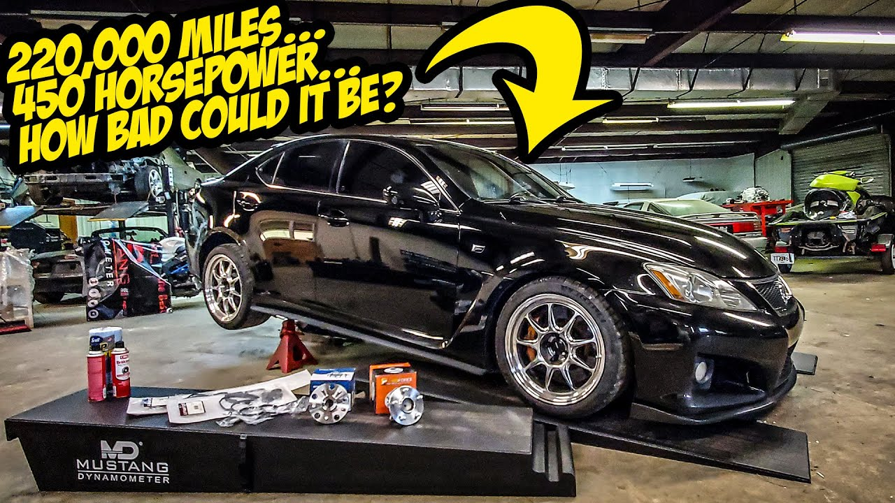 Here's What A 450+HP Lexus IS-F Engine Looks Like After 220,000+ Miles (Driven HARD)