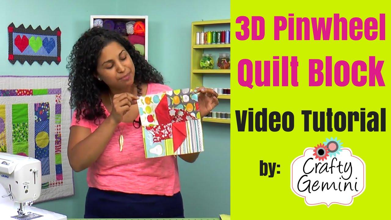 3d Pinwheel Quilt Block Tutorial