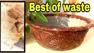 How to make bonsai pot at home