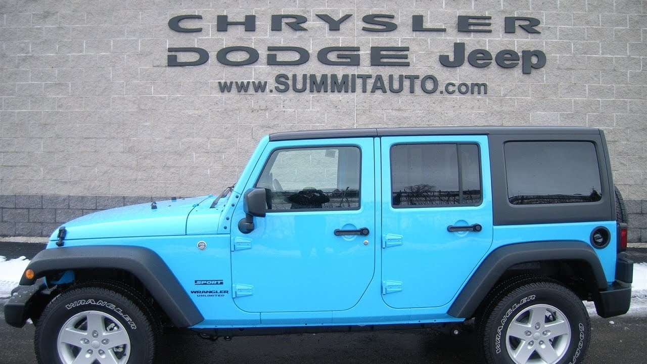 7J150 2017 JEEP WRANGLER UNLIMITED 4X4 CHIEF BLUE CLEARCOAT COLOR LED LIGHT  Www.SUMMITAUTO.com