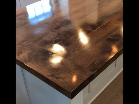 Wood Countertop by West Point Custom Homes