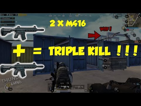 PUBG Mobile: Triple Kills With 2x M416 - Thunder Gaming PUBG Mobile Awesome Moments Ep.1