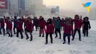 Олимпиада в Сочи-2014!!! Якутские вожатые всем сердцем болеют за Россию.