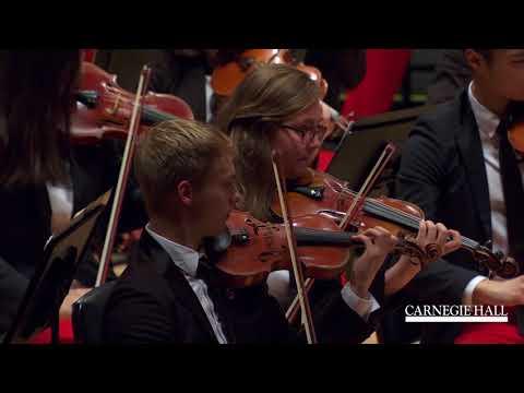 """NYO-USA Performs """"La Conga del Fuego Nuevo"""" by Arturo Márquez with Marin Alsop"""