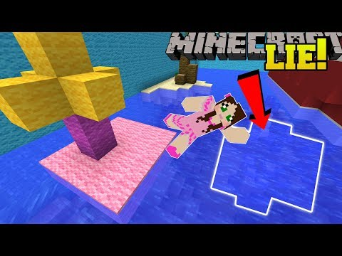 Minecraft: THIS WATER IS A LIE! - FIND THE 8 BUTTONS - Custom Map