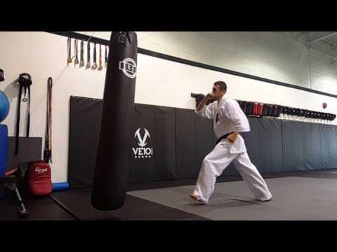 Axe kick kyokushin karate.