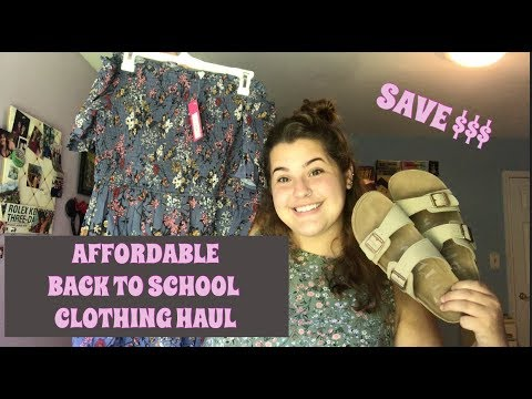 back to school clothing haul || AFFORDABLE TRENDS