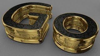 Black Gold Logo - Cinema 4D Tutorial
