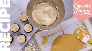Caramelised White Chocolate Swiss Meringue Buttercream Recipe | Cupcake Jemma
