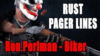 PAYDAY 2 - RUST PAGER ANSWERS (New Character) Biker by Ron Per…