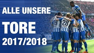 ALLE TORE DER SAISON - Hertha BSC - Berlin - 2018 #hahohe