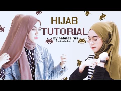 Hijab Tutorial #miracholecct 2 hijab styles // nabilazirus