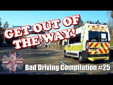 Bad Drivers UK Dash Cam Compilation #25