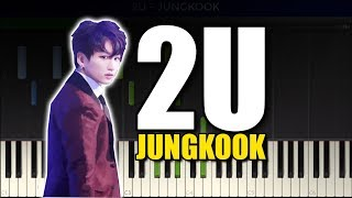 Download Mp3 Bts Jungkook - 2u Piano Cover/piano Tutorial With Sheet Music