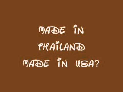 MADE IN USA MADE IN THAILAND ENGLISH AND THAI VERSION AUDIO