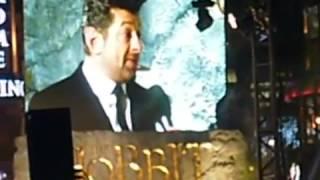 Энди Серкис реальная съемка в Лондоне на примьере Хоббит Andy Serkis 'Gollum' interview