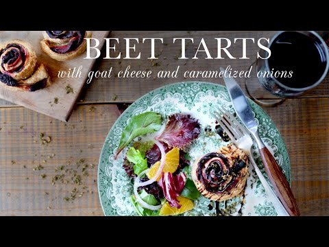 Beet Tarts with Goat Cheese | Kitchen Vignettes | PBS Food