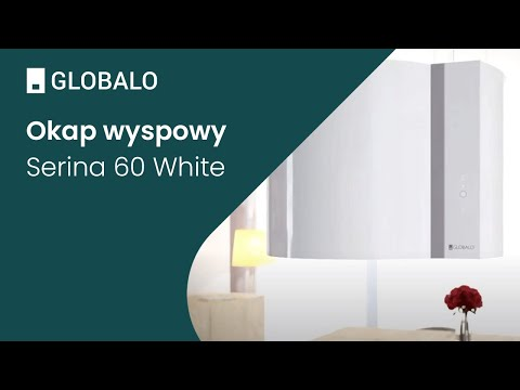 Okap wyspowy GLOBALO Serina 60.4 White | Ciche i wydajne okapy GLOBALO