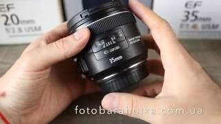 видео Сравнение объективов Canon EF 35 f/2 и EF 50 f/1.4 USM