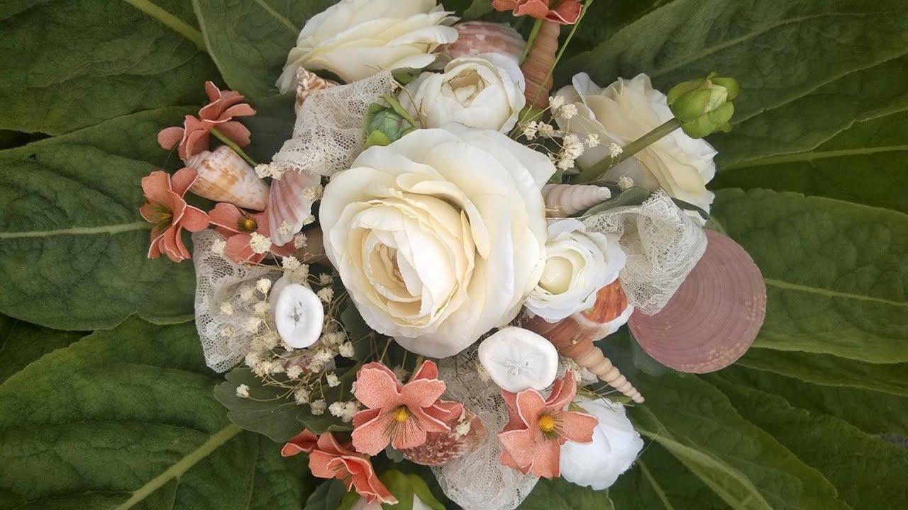 Seashell Wedding Bouquet Youtube
