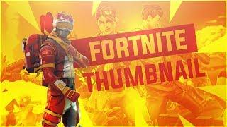 Fortnite: Battle Royale Thumbnail Template *FREE* (Photoshop CC/CS6) by Moke