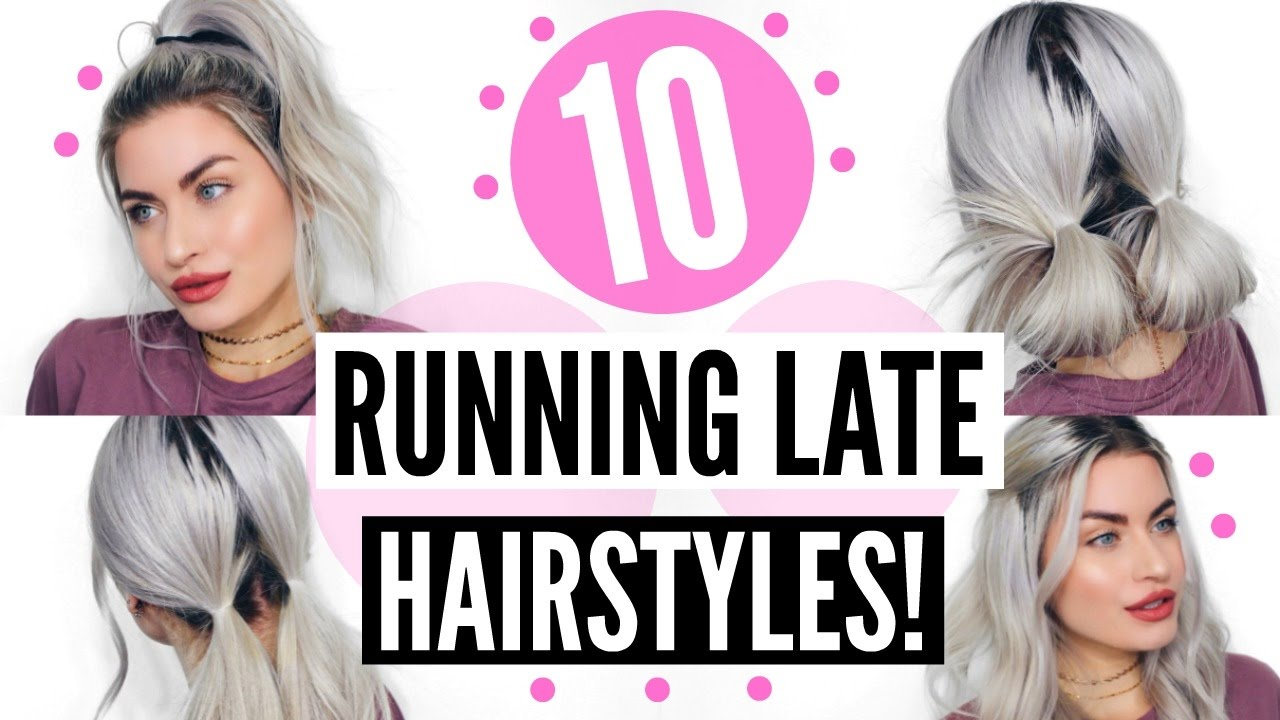 running late hairstyles heatless