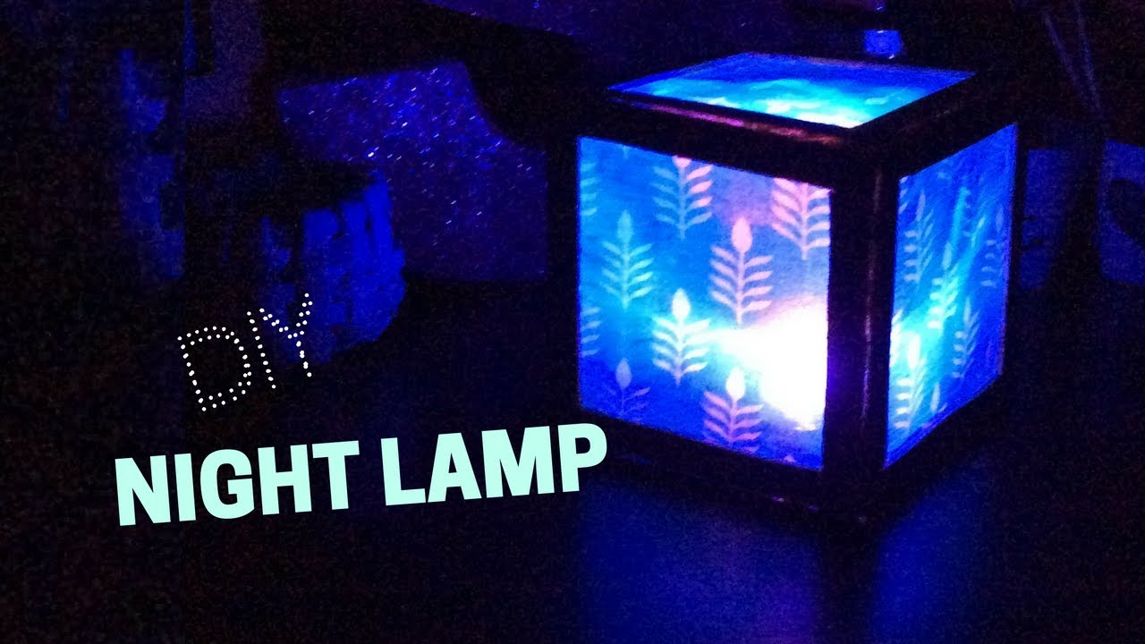Diy night lamp learn how to make a cheap night lamp from for How to make a lampshade from scratch