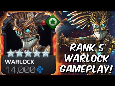 5 Star Warlock Rank 5 Rank Up & Variant Gameplay! - Marvel Contest Of Champions